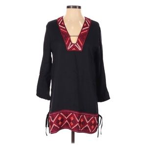 Anthro. Ella Moss Embroidered 3/4 Sleeve Blouse XS
